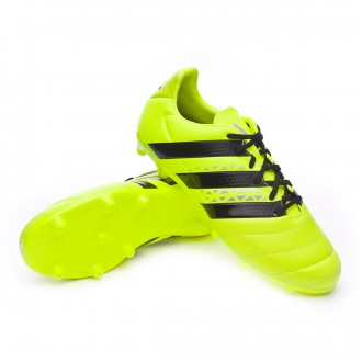 Bota  adidas Ace 16.3 FG Piel Solar yellow-Black-Silver metallic