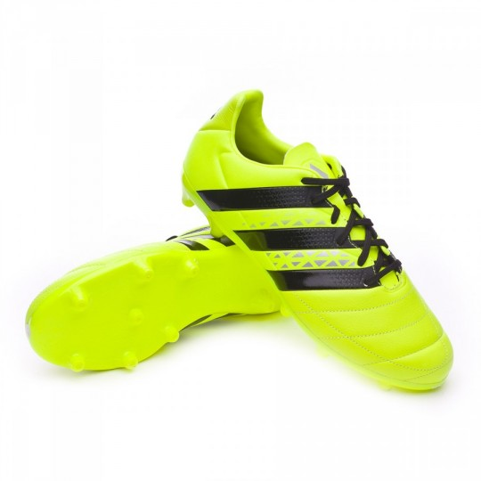 Boot adidas Ace 16.3 FG Piel Solar yellow-Black-Silver metallic 7ecbc0379cf3a
