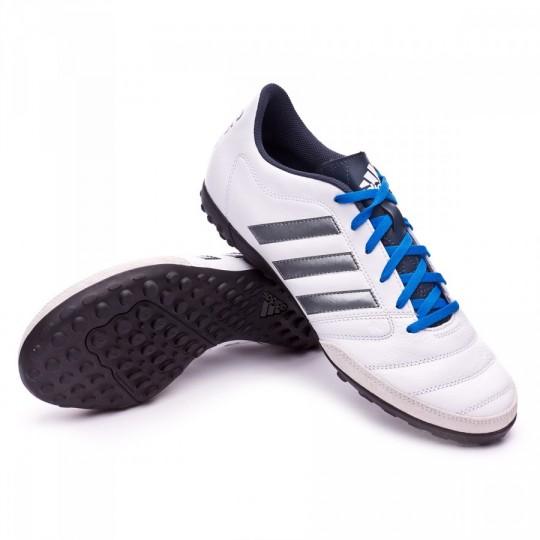 Chuteira  adidas Gloro 16.2 Turf White-Night metallic-Utility blue