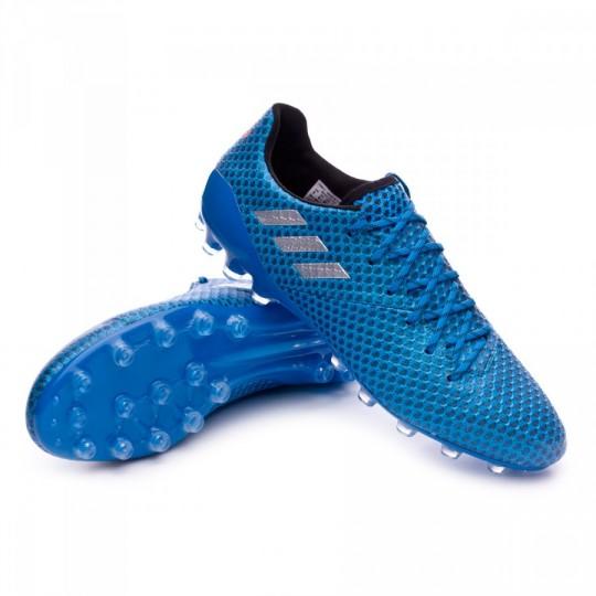 Chuteira  adidas Messi 16.1 AG Shock blue-Matte silver-Black