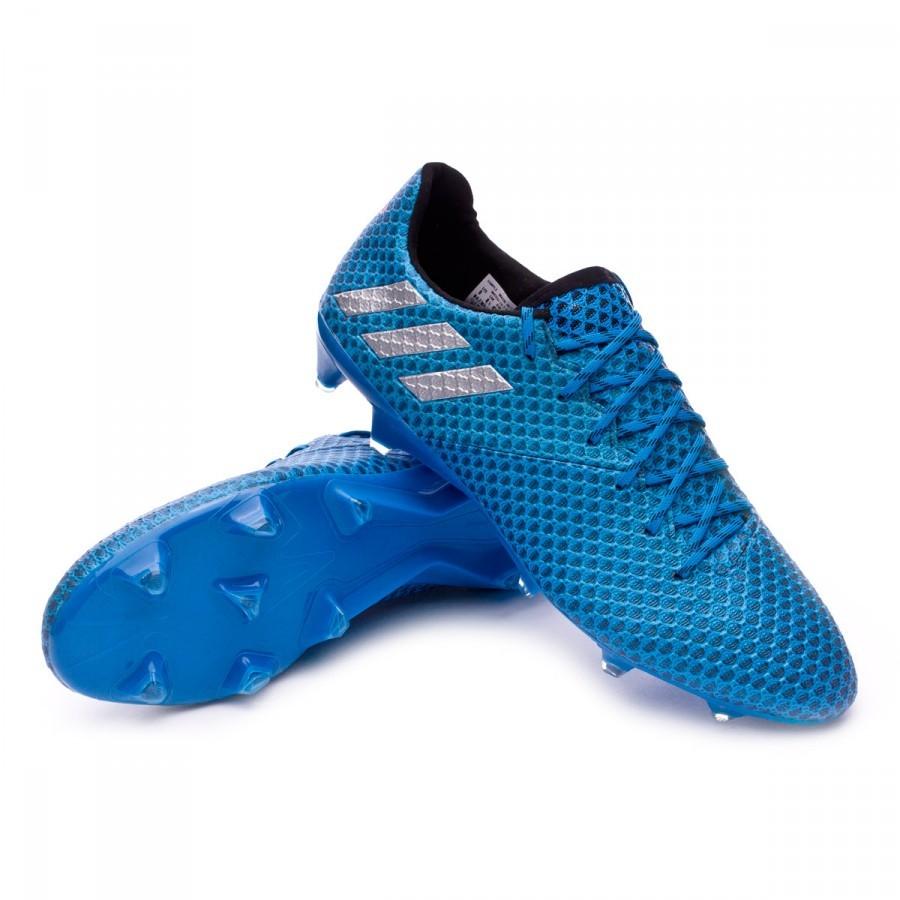 Boot adidas Messi 16.1 FG Shock blue-Matte silver-Black - Football ... 83fee86e0