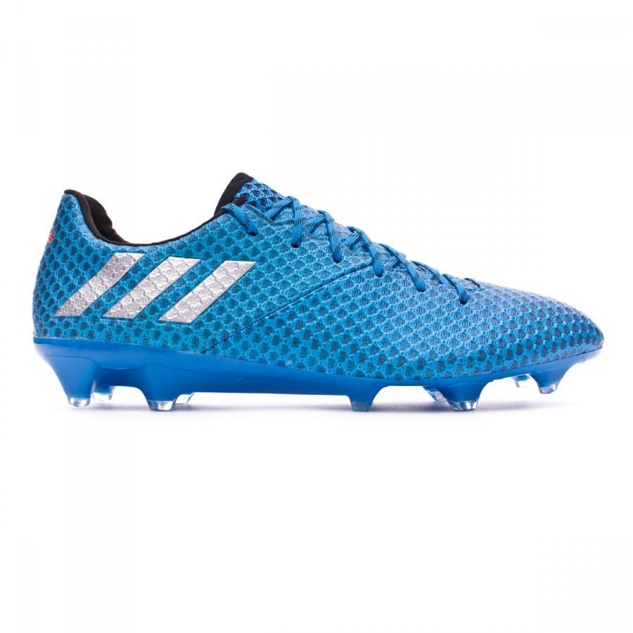 0f47676c0ecd2 Zapatos de fútbol adidas Messi 16.1 FG Shock blue-Matte silver-Black -  Tienda de fútbol Fútbol Emotion