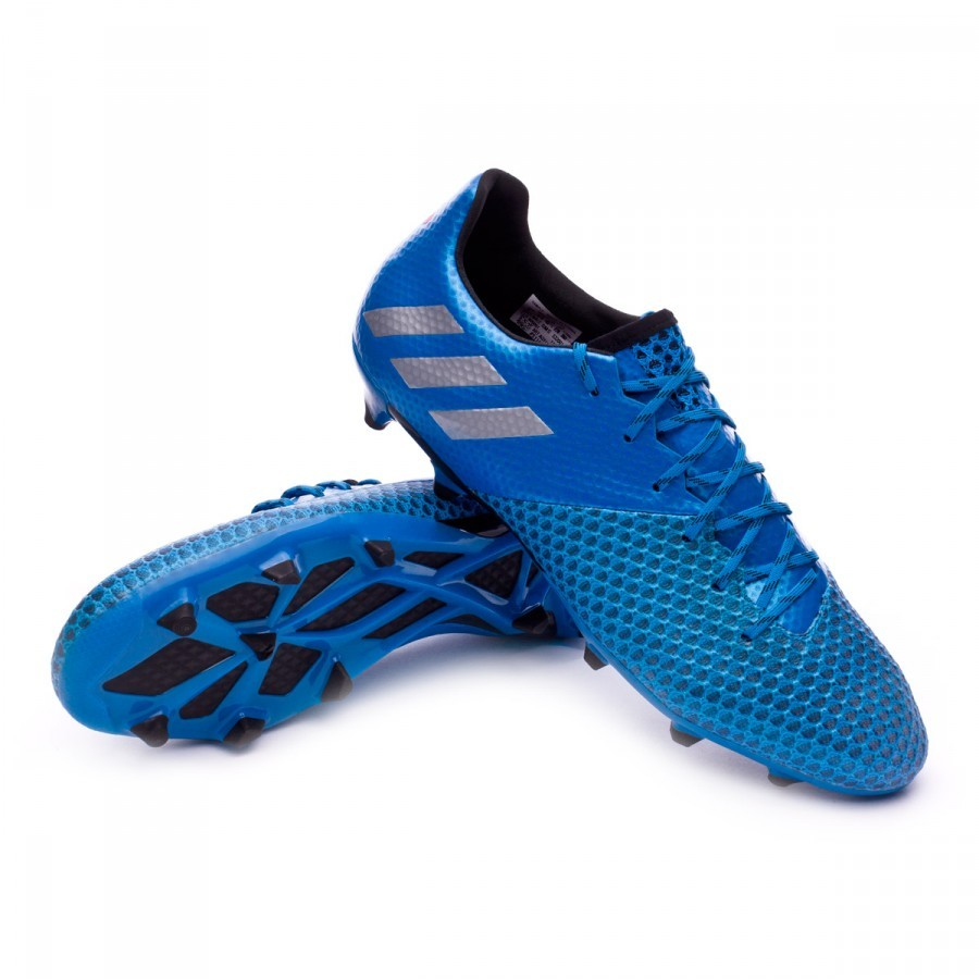 Boot adidas Messi 16.2 FG Shock blue-Matte silver-Black - Football store  Fútbol Emotion 0ca5aa6fb7334