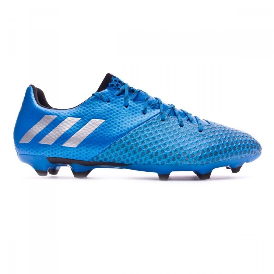 buy online 3ac2f c9dad Zapatos de fútbol adidas Messi 16.2 FG Shock blue-Matte silver-Black -  Soloporteros es ahora Fútbol Emotion