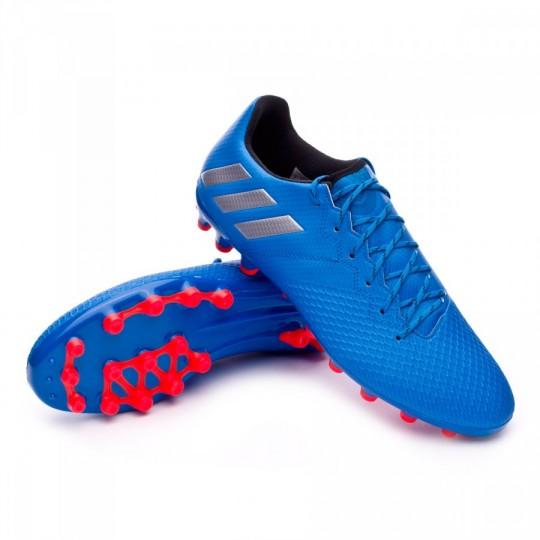 Chuteira  adidas Messi 16.3 AG Shock blue-Matte silver-Black