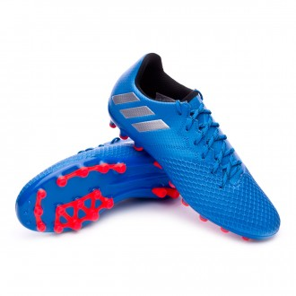 Chuteira  adidas Jr Messi 16.3 AG Shock blue-Matte silver-Black
