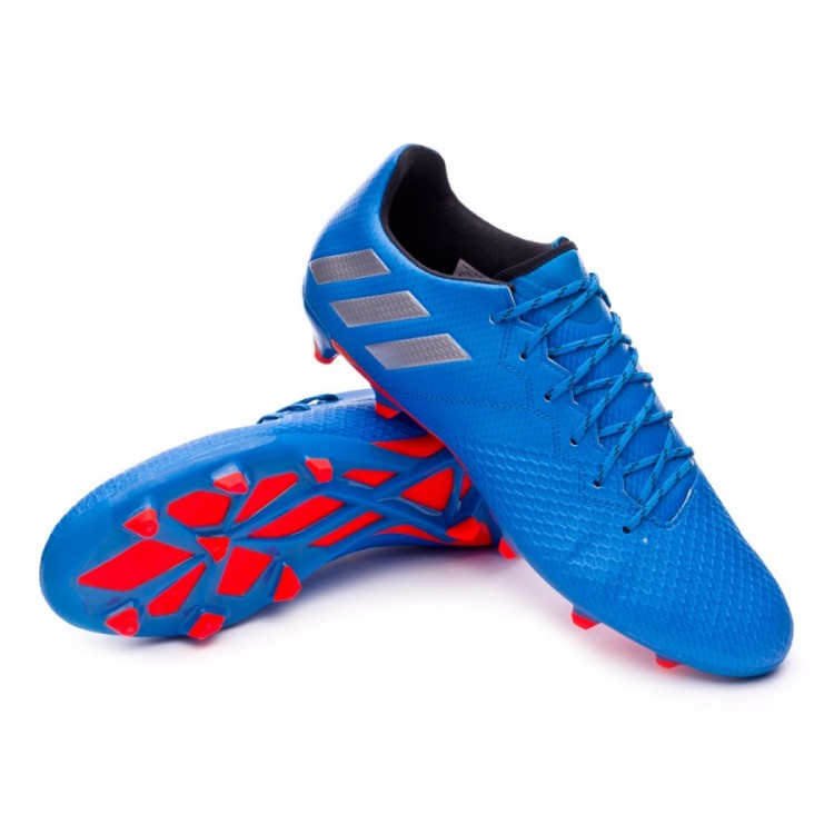 e765fc5a6f9 Chuteira adidas Messi 16.3 FG Shock blue-Matte silver-Black - Loja ...
