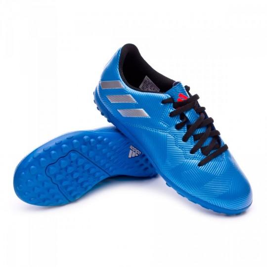 Chuteira  adidas jr Messi 16.4 Turf Shock blue-Matte silver-Black