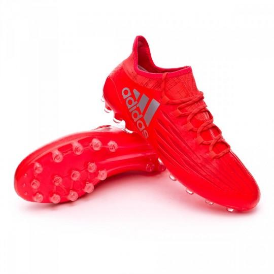 Chuteira  adidas X 16.1 AG Solar red-Silver metallic