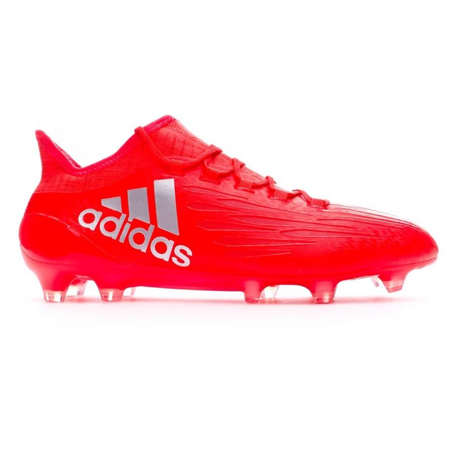 e320a1dfab998 Bota de fútbol adidas X 16.1 FG Solar red-Silver metallic - Tienda de fútbol  Fútbol Emotion
