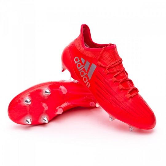 Chuteira  adidas X 16.1 SG/FG Solar red-Silver metallic