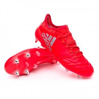 Chuteira  adidas X 16.1 SG/FG Piel Solar red-Silver metallic