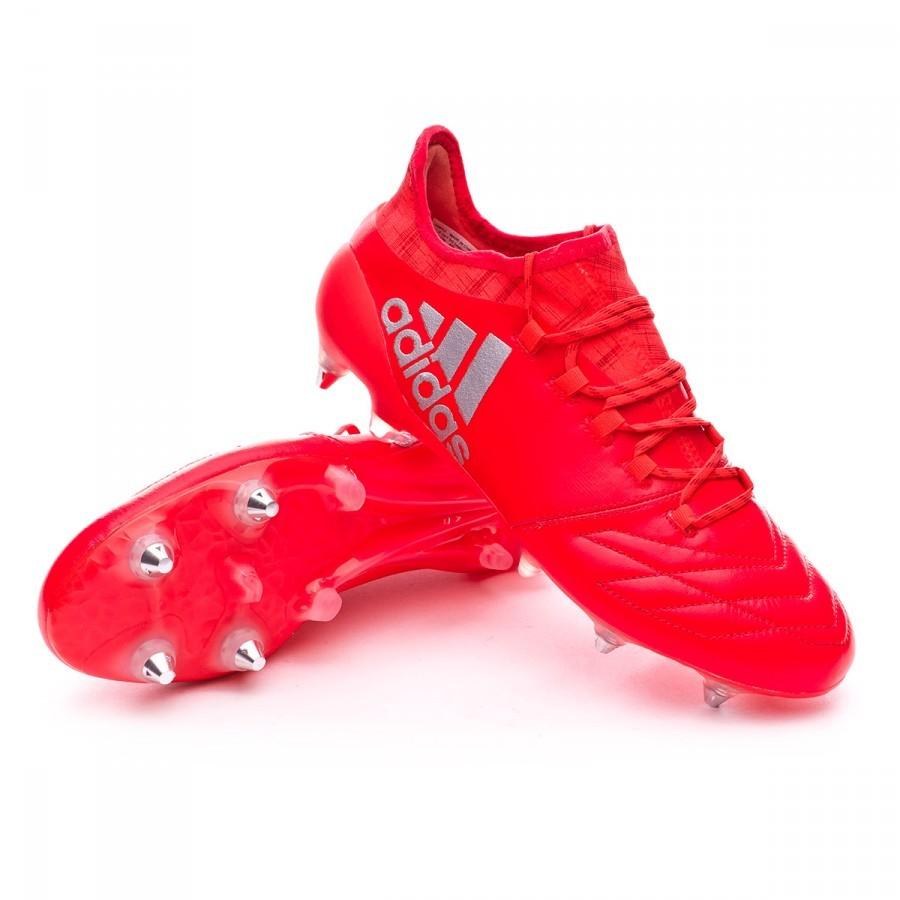 51cfff503bca8 Zapatos de fútbol adidas X 16.1 SG FG Piel Solar red-Silver metallic -  Tienda de fútbol Fútbol Emotion