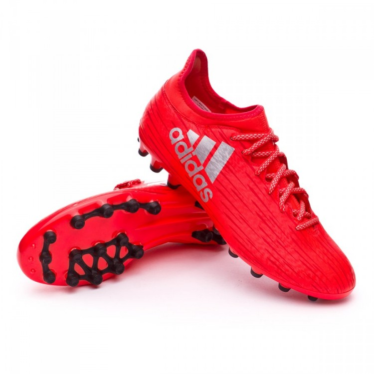 sports shoes 92cfa 2bed2 bota-adidas-x-16.3-ag-solar-red-silver-