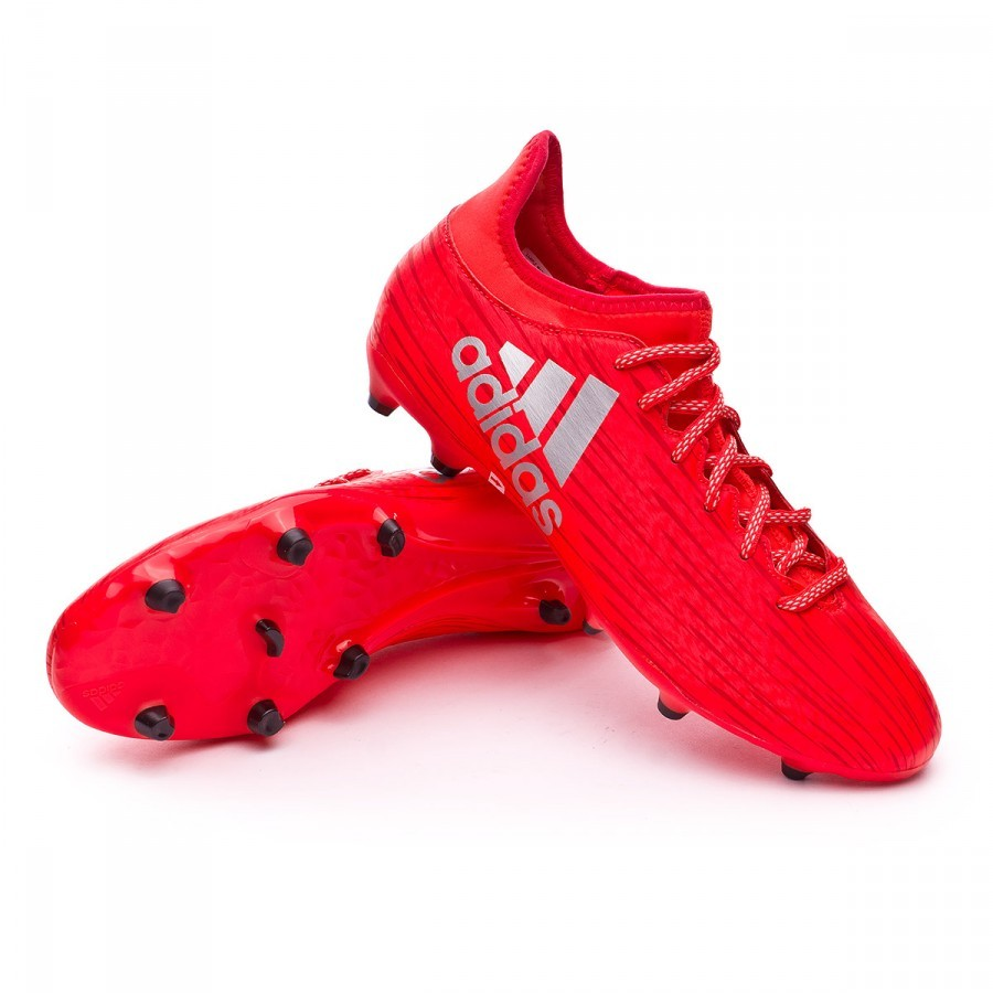 Boot adidas X 16.3 FG Solar red-Silver metallic - Football store ... f8663172d3