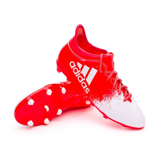 Chaussure  adidas X 16.3 FG/AG Mujer Solar red-White