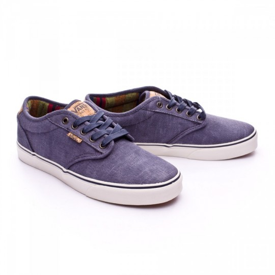 Zapatilla  Vans Atwood Deluxe Washed Twill Navy-Marshmallow
