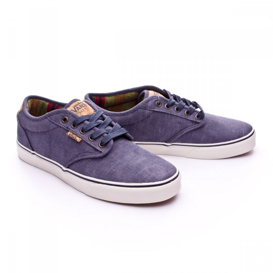 47e163b6a493 Trainers Vans Atwood Deluxe Washed Twill Navy-Marshmallow ...