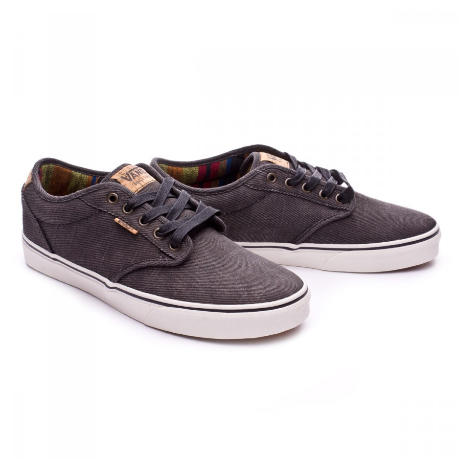 8d858d935e650 Trainers Vans Atwood Deluxe Washed Twill Black-Marshmallow ...