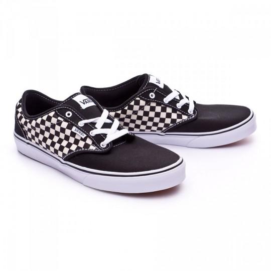 Zapatilla  Vans jr Atwood Checkers Black-White