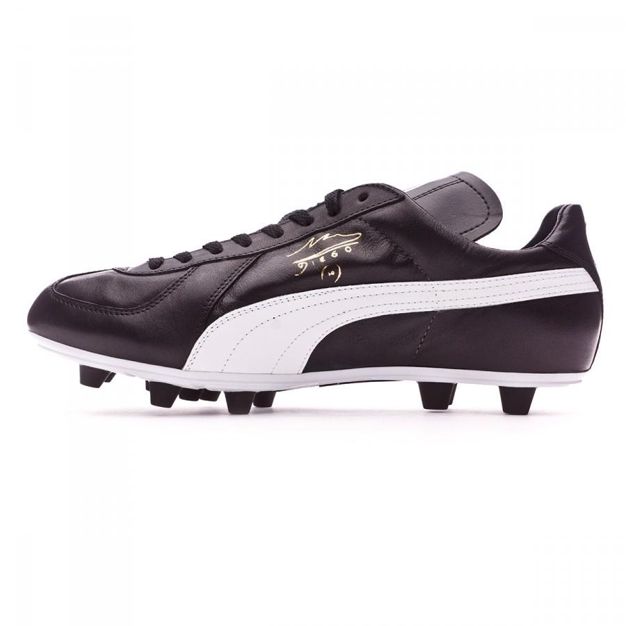 e439fff1fa628 Zapatos de fútbol Puma Maradona Super FG Black-White-Team gold - Tienda de fútbol  Fútbol Emotion