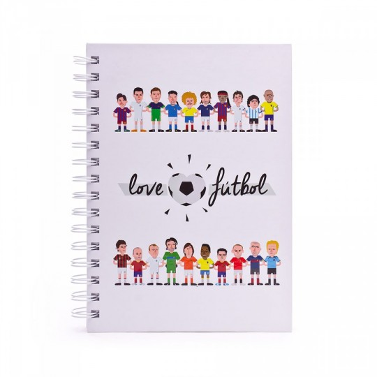 Cuaderno  LoveFútbol LF Blanco