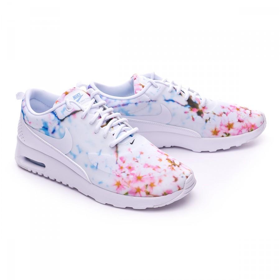 Tenis Nike Air Max Thea Print Mujer White University Cherry Blossom