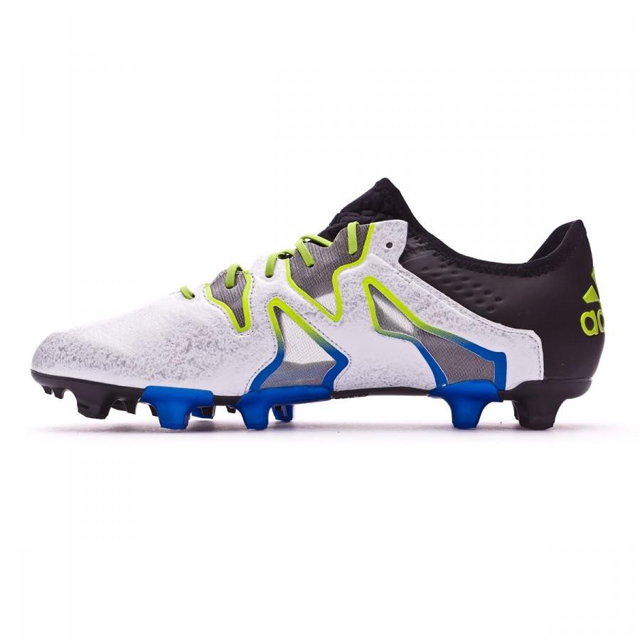 new product 69d08 8c8ba Boot adidas X 15+ SL FGAG Black-White-Solar slime - Football store Fútbol  Emotion