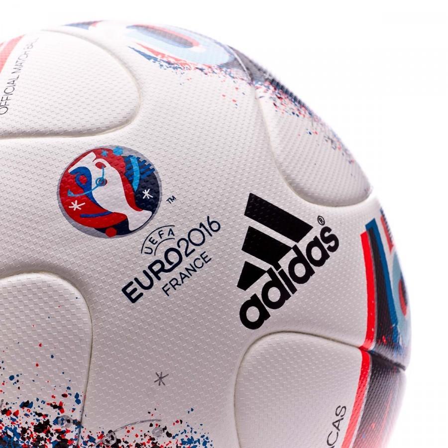 aed5ecfe6c5b5 Bola de Futebol adidas Euro16 OMB White-Bright blue-Solar red - Loja de  futebol Fútbol Emotion