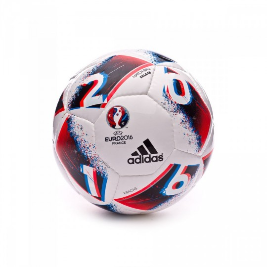 Balón  adidas Euro16 Sala 65 White-Bright blue-Solar red