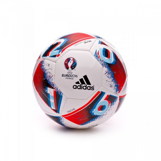 Balón  adidas Euro16 Sala 5x5 White-Bright blue-Solar red