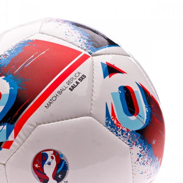 Bola de Futebol adidas Euro16 Sala 5x5 White-Bright blue-Solar red ... b3462c2811add