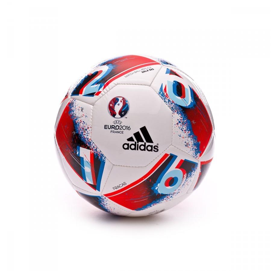 Ball adidas Euro16 Sala 5x5 White-Bright blue-Solar red - Football ... f7968d3cbe07a