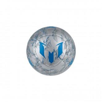 Bola de Futebol  adidas Messi mini Silver metallic-Shock blue
