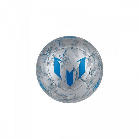 Bola de Futebol  adidas Messi mini Silver metallic-Shock blue