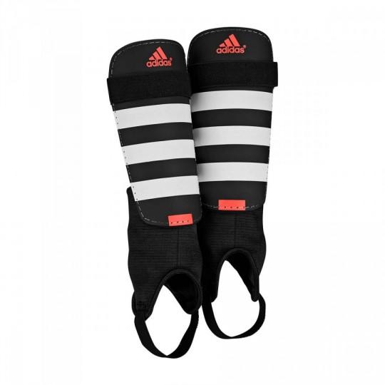 Protège tibia adidas Everclub Black White Solar red