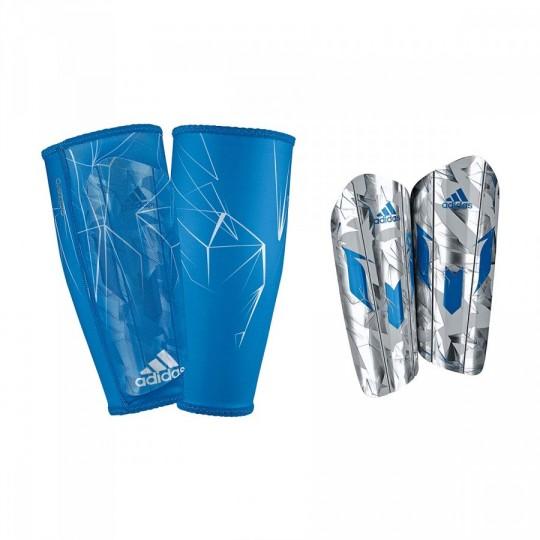 Caneleira  adidas Messi 10 Pro Silver metallic-Shock blue