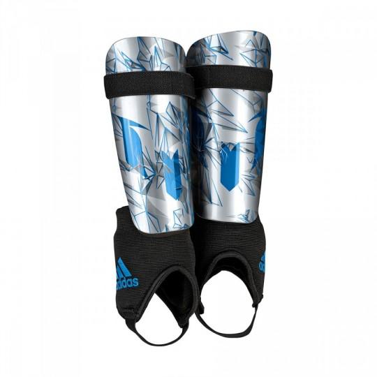 Espinillera  adidas Messi 10 Youth Silver metallic-Shock blue