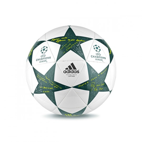 Balón  adidas Finale16 Capitano White-Vapour steel-Tech green