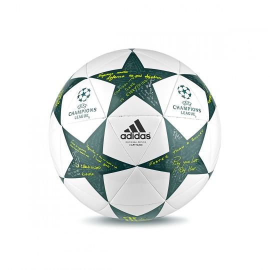 Bola de Futebol  adidas Finale16 Capitano White-Vapour steel-Tech green