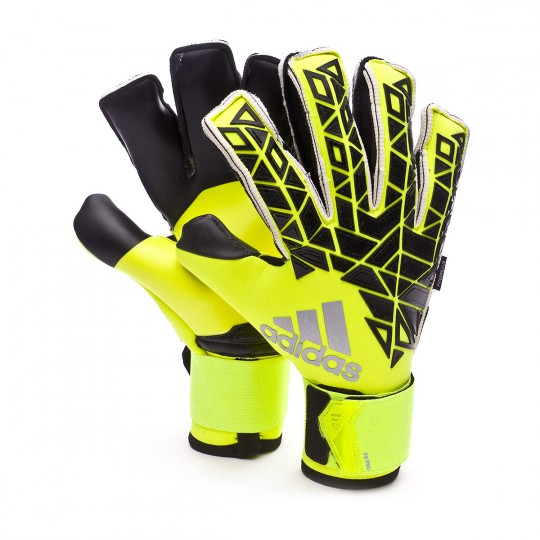 Luvas  adidas Ace Transition Fingersave Pro Tech green-Black-Solar yellow
