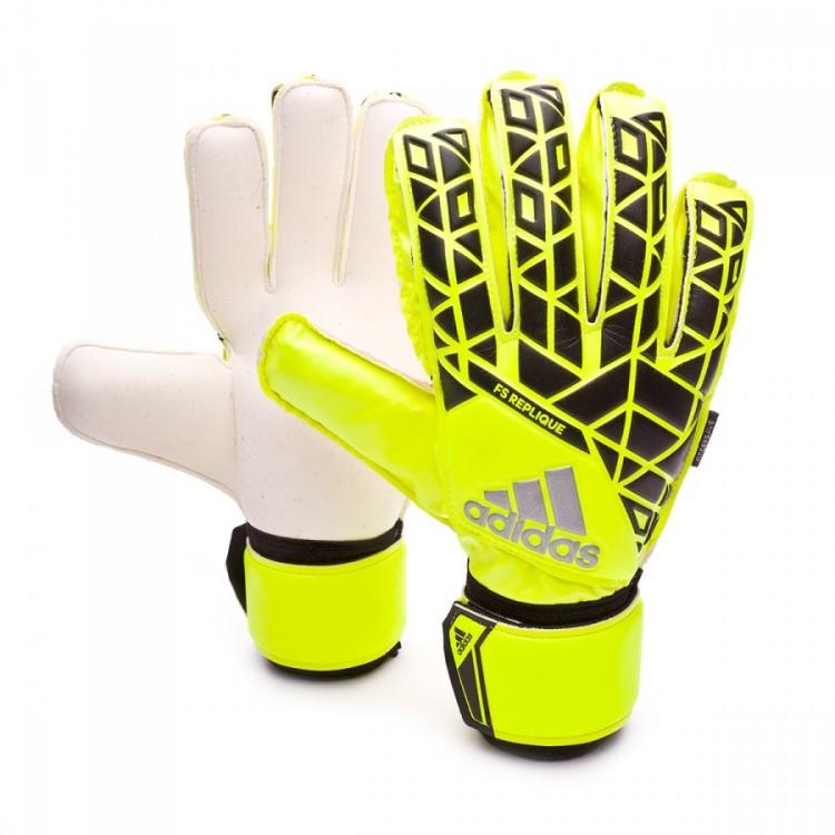 Guante de portero adidas Ace Fingersave Niño Solar yellow-Black-Onix ... 2398ce6d0c7fe
