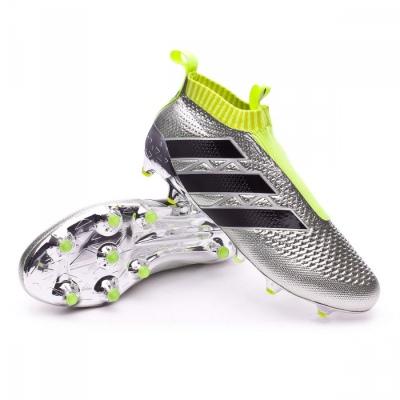 Confesión Rebotar Una vez más  Football Boots adidas Ace 16+ Purecontrol Silver metallic-Black-Solar  yellow - Football store Fútbol Emotion