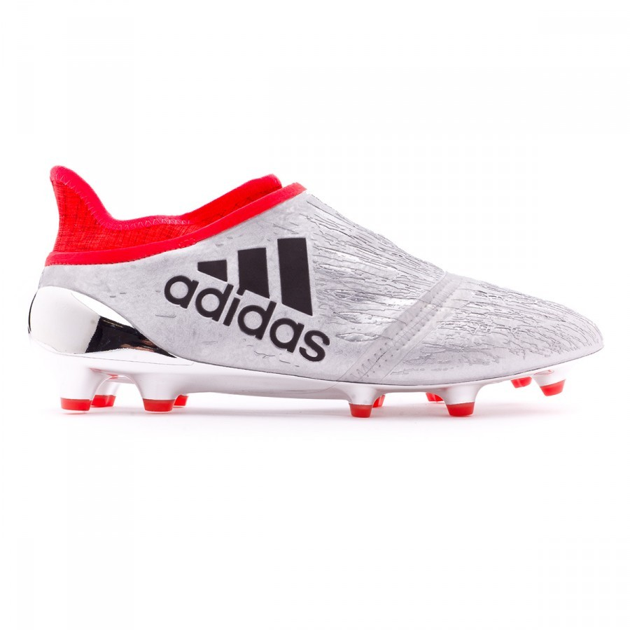 ad10d9bfa764 Football Boots adidas X 16+ Purechaos FG Silver metallic-Black-Solar red -  Football store Fútbol Emotion