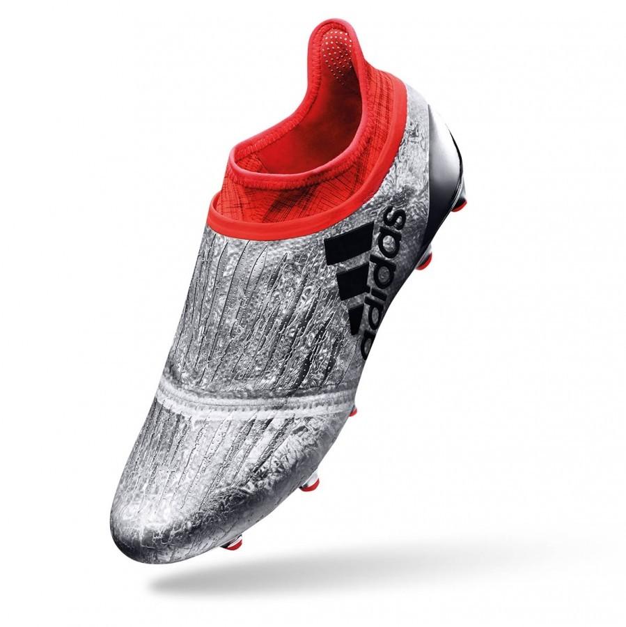wholesale dealer decbf ecf64 Scarpe adidas Jr X 16+ Purechaos FG Silver metallic-Black-Solar red -  Negozio di calcio Fútbol Emotion