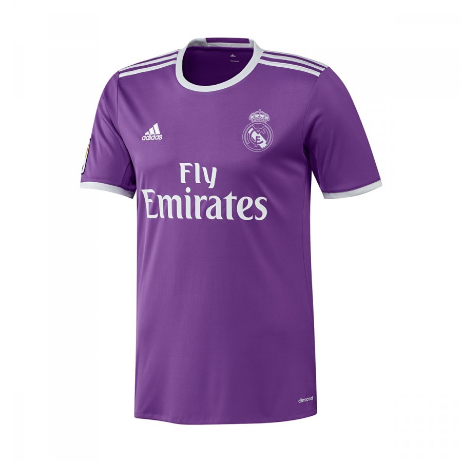 2783cd3d8f116 Camiseta adidas Real Madrid Segunda Equipación 2016-2017 Ray purple-Crystal  white - Tienda de fútbol Fútbol Emotion