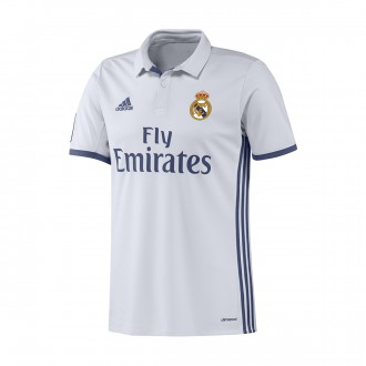 Camisola  adidas Real Madrid Principal 2016-2017 Crystal white-Raw purple