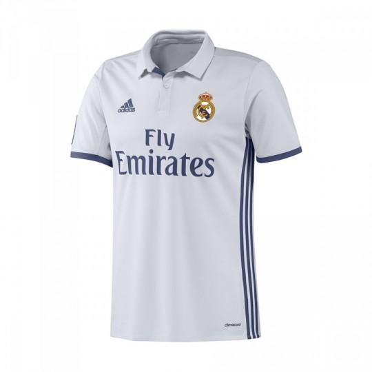Camiseta  adidas jr Real Madrid Home 2016-2017 Crystal white-Raw purple