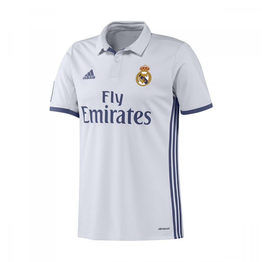 c5b926eb23eda Maillot adidas Jr Real Madrid Domicile 2016-2017 Crystal white-Raw purple -  Boutique de football Fútbol Emotion