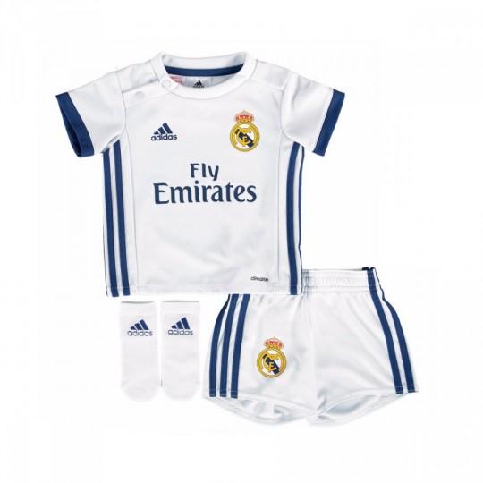 Conjunto  adidas jr Real Madrid Home 2016-2017 Bebé Crystal white-Raw purple